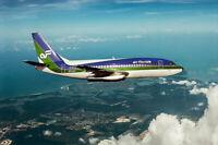AIR FLORIDA BOEING 757-200 IN FLIGHT 8x12 SILVER HALIDE PHOTO PRINT