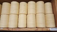 Rug Warp- Lot of 10 (1/2 lb ea.)- Cotton/Polyester Blend- Color Yellow