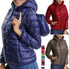 Womens Lightweight Long-Sleeve Zip Water-Resistant Packable Hooded Puffer Jacket
