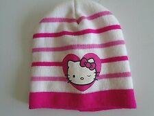 Hello Kitty Beanie White Stripes One size