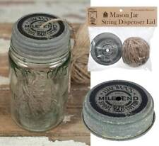 Mason Jar Lid Dispenser String Twine Barn Roof