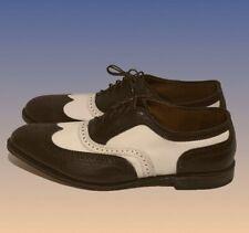 Allen Edmonds Broadstreet Men's SZ 14 E Brown & White Brogue Wingtips Shoes