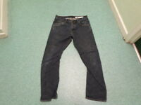 """All Saints Resin Runner Jeans Waist 34"""" Leg 30"""" Faded Dark Blue Mens Jeans"""