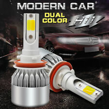 H11 LED Headlight 72W 9000LM Kit Low/ High Beam Bulbs High Power Dual Color H8