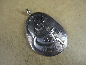 Sterling Silver Overlay Kokopelli Pendant, Hallmarked, 6.4g