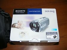Sony DCR-SX45 70x Zoom Carl Zeiss Lens HandyCam Camcorder w/ Battery & in Box