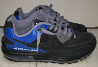 RARE NIKE AIR MAX WRIGHT Men US 9 Black Blue Leather Running Shoe 317551-024