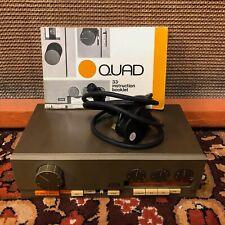 Vintage Quad 33 Control Unit Pre Amplifier Complete w/ Bulgin & Manual Serviced