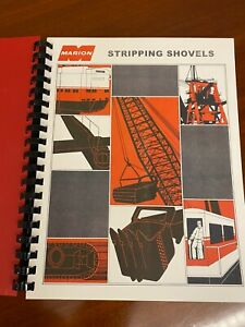 MARION Line of Large Stripping Shovels - Brochure Specs Diagrams Prices 1960s