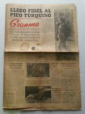 1965 Newspaper Granma Fidel Castro in the Turquino Peak Cuba Sierra Maestra