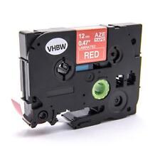 CASSETTA NASTRO 12mm B/R VHBW per Brother P-Touch TZ-435, TZE-435