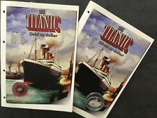 LIBERIA 2005 Coins Titanic Expedition - Gold 25 $ and Silver 10 $ Proof Coin !