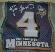 New Brett Favre Minnesota Minnesota Vikings 4 Jersey Tapestry Throw Blanket Gift