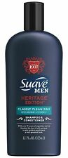 Suave Men Heritage Classic Clean 2in1 Shampoo & Conditioner 12 oz