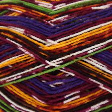 King Cole Zig Zag 4 Ply Knitting Yarn Suitable for Socks Shade 3163 Autumn Glory