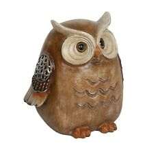 Wood Effect Owl Figurine 23.0cm Bird Lovers Gift  in Box  23654