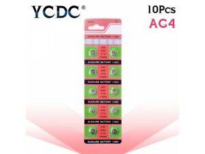 10X TMI YCDC Alkaline Battery AG4 LR626 SR626SW LR66 377 SR626 Button Coin