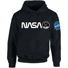 NASA ASTRONAUT USA FLAG PRINT Pocket AMERICAN Logo Hoodie Men Women Unisex N1