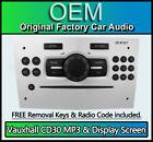 Vauxhall Corsa CD30 MP3 player, Vauxhall CD radio stereo & Display Screen WHITE