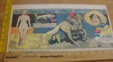 Virginia Mayo Roy Rogers Seein' Stars Feg Murray 1940s Sunday color panel 2h