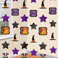6 Happy Halloween Wicked Witch Party Hanging 1.8m Cutout String Decorations