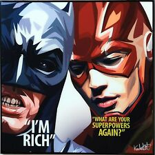 Batman & The Flash canvas quotes wall decals photo painting pop art poster ❤️