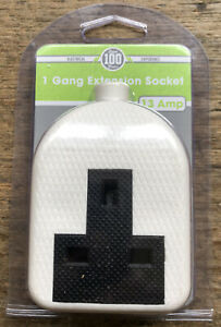 PIFCO 1 Gang Rubber Extension Socket - 13Amp Brand New