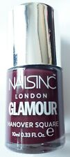 NailsInc London nail varnish polish 'Hanover Square' berry colour unused