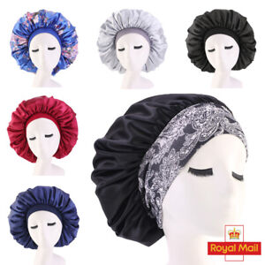 Long Hair Care Women Satin Bonnet Sleep Hat Cap Night Caps Silk Feel Head Wrap
