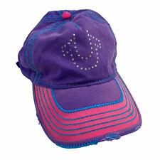 True Religion Crystal U Distressed Baseball Cap OS $85
