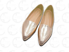 Ladies gold pointy flats Felicia-101