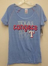 Texas Rangers Ladies S Triblend Raglan Scoop Neck Shirt 7590