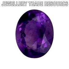 12mm x 10mm OVAL NATURAL DEEP PURPLE AMETHYST GEM GEMSTONE