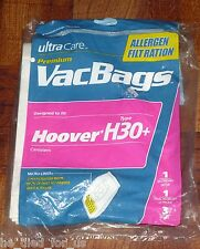 UltraCare Premium Vac Bags for Hoover type H30+ Canister Vacuums Free Shipping!