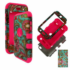 Hybrid Pik Blue Paisley 3 in 1 Apple iPod Touch 4 4th Gen Case Cover