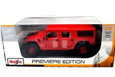 Maisto Hummer Red 4 Doors Wagon 1/18 Diecast Car 36858