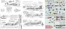 Carpena Decals 1/48 RF-4C Phantom Mirage F.1 A-10 Jaguar gacela (USAF/Ala/ALAT)