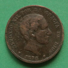 1878 Spain 10 Centimos SNo43617