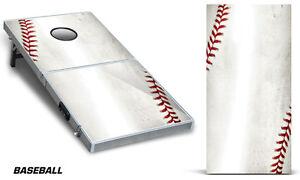 Cornhole Bean Toss Game Corn Hole Vinyl Wrap Decal Baseball 2-Pack