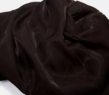K12 PER METER Dark Brown Mirror Organza Sheer Fabric Dress/Decorative Material