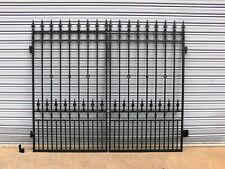 DRIVEWAY GATES WROUGHT IRON Black 1815 mm h x 2200 mm w