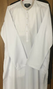 Mens White Kurta Pajama Cotton Indian Ethnic  Traditional Casual Party Wear