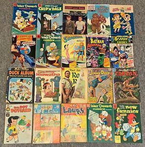 lot of 20 low grade 1950s-60s comics~Disney,Dell,DC,Harvey,Archie
