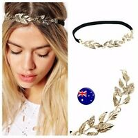 Women Girl Leaf Retro BOHO Wedding Bride Party Elastic Hair Head Band Headband