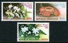 Indonesia 1512-1514, MNH. Flowers, 1992