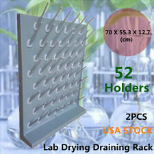 Grey 52 Pegs PP Drying Rack Wall Desk Lab Supply Cleaning Frame One more Free