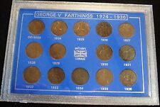 Giorgio V 1924-1936 Set di 14 SCELLINO chiare date vetrina regalo ideale