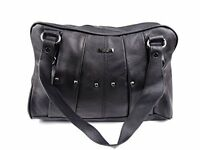 Lorenz Soft Real Leather Shoulder Bag Hand Bag Purse Top Zip with Pleated & Stud
