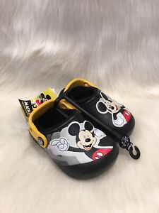 NWT Crocs Disney Mickey Mouse Fur Lined Patch  Toddler Size C6