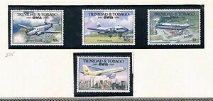 & Tobago 1990 -50th Anniv De Br West Aérien -sc 525-529 [782-MS786] MNH H1